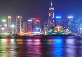Night view on Hong Kong island — Stock Photo