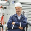 Stock Photo: Senior adult electriciengineer worker