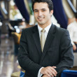 Smiling young businessman — Stock Photo