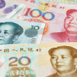 Chinese currency money yuan — Stock Photo