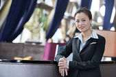 Smiling young business woman — Stock Photo