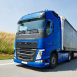 Lorry with trailer driving on highway — Stock Photo