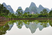 Guilin karst mountains landscape — Stock Photo