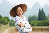 Chinese agricultural farm worker — Stockfoto