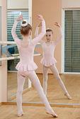 Little girl at ballet training — Stock Photo
