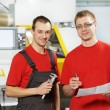 Industrial workers at tool workshop — Stock Photo