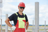 Site manager at construction area — Stockfoto
