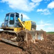 Bulldozer loader excavator at work — Stock Photo