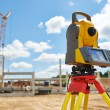 Surveyor equipment theodolie outdoors — Stock Photo #30007357