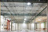 Empty warehouse under construction — Stock Photo