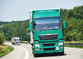 Lorry moving with trailer on lane — Foto Stock