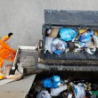 Urban recycling garbage services — Stock Photo