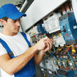 Adult electrician engineer worker — Stock Photo