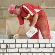 Construction mason worker bricklayer — Stock Photo #30414973