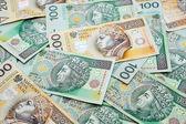 Польская валюта банкноты злотых — Стоковое фото