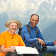 Smiling tourist hiker in india mountains — Stock Photo #30487097