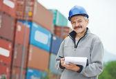 Dock warehouse worker — Stock Photo