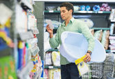 Young father shopping — Stock Photo