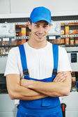 Young electrician engineer worker — Stock Photo