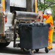 Urban recycling waste and garbage services — Stock Photo #30921929