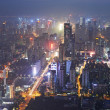 Shenzhen city in night light. Bird view — Stock Photo