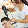 Hairdresser at work — Stock Photo