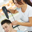 Stock Photo: Hairdresser at work