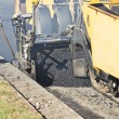 Urban road asphalting works — Stock Photo