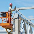 Stock Photo: Builder millwright worker at construction site