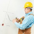 Electricians at cable wiring work — Stock Photo #32581811
