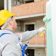Builder facade painter at work — Stock Photo #32581985