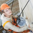 Facade Plasterer worker at work — Stock Photo