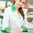 pharmacy chemist woman in drugstore — Stock Photo #32583541