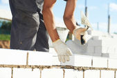 Construction bricklayer work — Stock Photo
