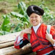 Smiling chinese minority womYao — Stock Photo #32721189
