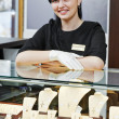 Jewellery shop sales assistant — Stock Photo #32721575