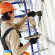 Facade builder plasterer at work — Stock Photo #33303545