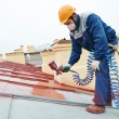 Builder roofer painter worker — Stock Photo