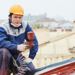 Builder roofer painter worker — Stock Photo #33304103
