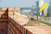 Construction bricklayer tools — Stock Photo