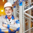 Warehouse worker in storehouse — Stock Photo