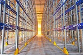 New modern warehouse rack — Stock Photo
