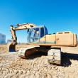 Excavator loader at work — Stock Photo