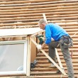 Stock Photo: Roofing work with flex roof