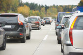 Traffic during the rush hour — Stock Photo