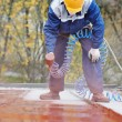 Builder roofer painter worker — Stock Photo #35848415