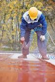 Tvůrce pokrývač malíř pracovník — Stock fotografie