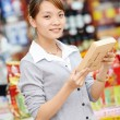 Chinese woman shopping food — Stock Photo