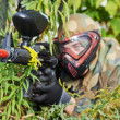 Stock Photo: Paintball player