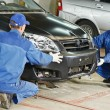 Auto mechanic repair car body — Stock Photo #36624867